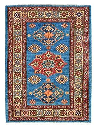Kalaty One-of-a-Kind Kazak Rug, Blue, 3' x 4' 5