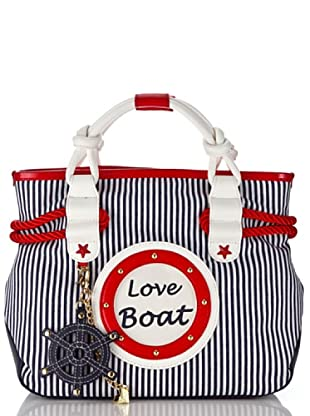 Tua By Braccialini Borsa Love Boat bianco/blu