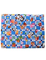 Baby Bucket Multi Purpose Baby Mat Blue Panda Print Set Of 3 + 1 - Blue