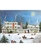 White Mountain Puzzles Winter Griswold Inn Jigsaw Puzzle (1000 Piece)