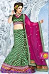 New Designer wonderful Green and Magenta color Party wear Lehenga Choli