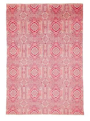Azra Imports Vogue Rug, Rose/Ivory, 5' 4