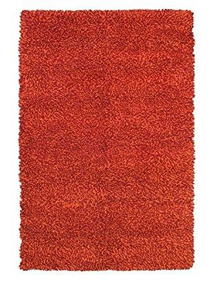 Handmade Ritz, Shag, Dark Red/Orange, 6' 7