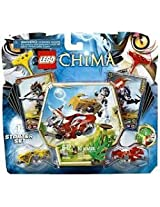 Game / Play LEGO Chima CHI Battles 70113 Includes Longtooth and Wakz minifigures with 4 weapons. Toy / Child / Kid