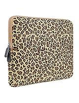 PLEMO Leopard's Spots Canvas Fabric 15-15.6 Inch Laptop / Notebook Computer / MacBook / MacBook Pro Sleeve Case Bag Cover
