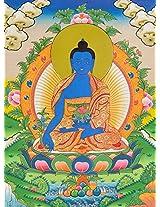 Exotic India Medicine Buddha - Tibetan Thangka Painting