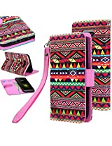 G5 case, G5 Flip cover, E LV LG G5 Flip Folio Wallet Case Cover - Deluxe PU Leather Flip Wallet Case Cover for LG G5 - TRIBAL