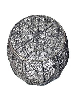 Melange Home Crochet Wire Barrel Stool