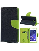 iAccessorize Mercury Goospery Flip Wallet Case Cover For Sony Xperia M2 (Green)