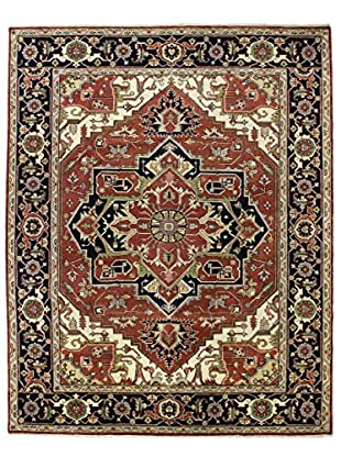 Bashian Rugs Hand Knotted One-of-a-Kind Indo-Herez Rug, Rust, 9' x 12'