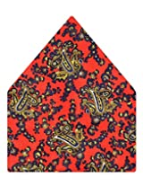 Tiekart Printed Silk Pocket Square (Ps362_Multi)