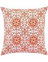 Peking Handicraft 18 by 18-Inch Down-Filled Pillow, Valencia, Tangerine