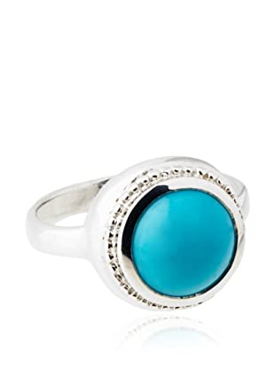 Anzie Byzantine Ring, Turquoise and Silver, Size 6