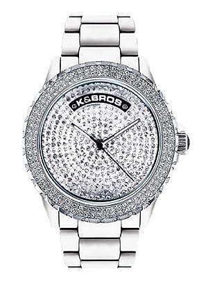 K&BROS 9554-2 / Reloj de Señora  con correa de plástico blanco
