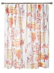 AphroChic Brooklyn Life Shower Curtain (Watercolor)