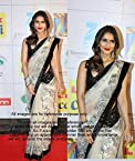Vani Kapoor White & Black Bollywood Replica Saree