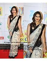 Vani Kapoor White & Black Bollywood Replica Saree