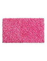 Indian Colors Polyester Shaggy Rug, Pink, 60cm x 120cm