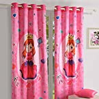 Swayam Digitally Print Kid s Door Curtain With Eyelets - Little Princess