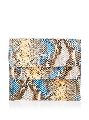 Braun Büffel Portemonnaie (beige/blau/safran)