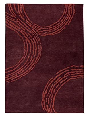 MAT the Basics Pamplona Hand-Tufted & Carved Rug (Plum)