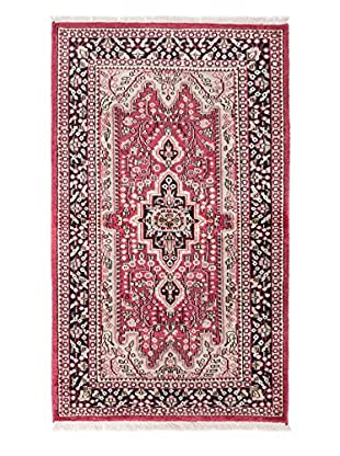 eCarpet Gallery One-of-a-Kind Hand-Knotted Kashmir Rug, Dark Pink, 3' x 5' 1