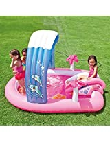 """Intex Hello Kitty Inflatable Play Center 83"""" X 64"""" X 47.5"""" Or 2.11m X 1.63m X 1.30m For Kids Ages 2+"""