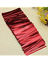 800Pcs Metallic Twist Tie Wire for Pack Candy Lollipop Cake Cello Bag(Red, 1 Pack)