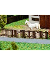 """Z Scale Wooden Picket Fence -- Kit - 4 Sections Each 3-3/8 x 1/16 x 5/16"""" 8.6 x .1 x .8cm"""