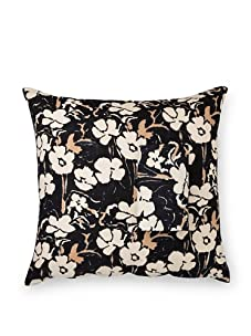 Kerry Cassill Lined Euro Sham, Big Black Floral