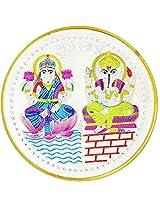 LGW Goddess Lakshmi Lord Ganesha Silver Precious Coin for Unisex (100Grams)