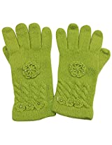 Graceway Unisex Cable Gloves (5G12, Green)