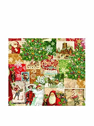 Punch Studio Set of 8 Continuous Roll Gift Wrap (Christmas Victoriana)