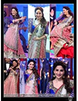 Madhuri Dixit Red And White Lehenga Choli