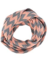 Simplicity Soft Light Weight Zig Zag Chevron Sheer Infinity Scarf, Pink