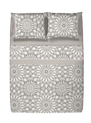 Casual Textil Juego de Sábanas Caleidos (Beige)