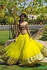 Indian Designer GAURGIOUS NEON GREEN Bridal Wedding Partywear Embroidery Lahenga