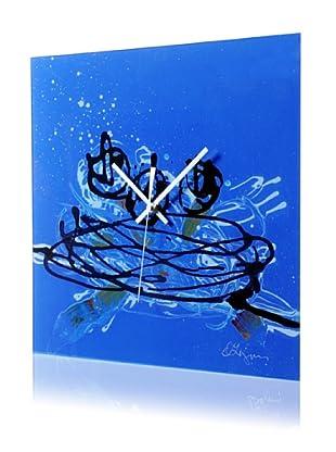 HangTime Designs Nest Wall Clock, Blue