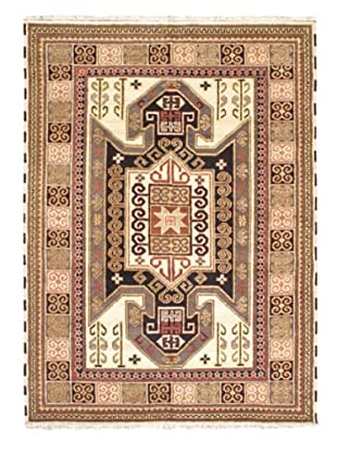 Hand-Knotted Royal Kazak Rug, Cream/Khaki, 5' 6
