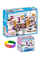 Playmobil Princess Set Includes: Royal Banquet Room And Princess With Swan Boat And Dimple Bracelet