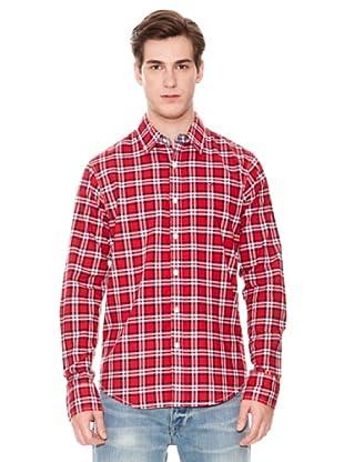 Tommy Hilfiger Camisa Tobert L / S (Rojo)