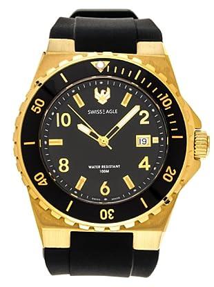 Swiss Eagle Reloj Dive Response negro / oro