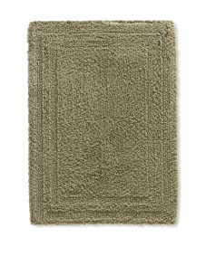 "Terrisol Reversible Cotton Bath Rug, Moss, 18"" x 25"""