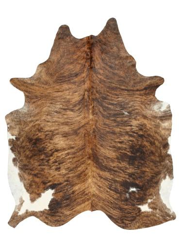 Shaped Hide Brown/Black Rug, 7' x 6'