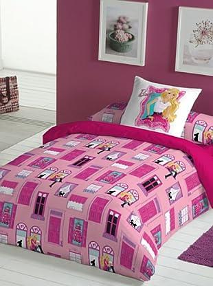 Euromoda Juego De Funda Nórdica Barbie Mansion (Rosa / Fucsia)