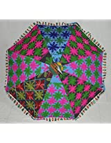 Lalhaveli Ethnic Indian Embroidery Work Umbrella Cotton Parasol 24 X 28