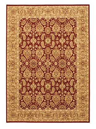 Royale Rug, Dark Red/Khaki, 5' 7