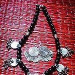 Black Metal Oxidised Silver Jewellery Set