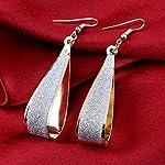 Silver Shinning GoldPlated Drop Dangle Earrings