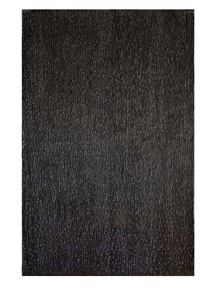 Dreamweavers Faux Leather Rug (Black)